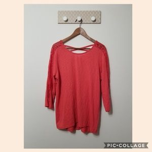 Style & Co blouse coral size 0X NWT